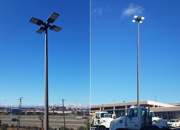 LightMart LED Light Pole Kit at USPS Parking Lot