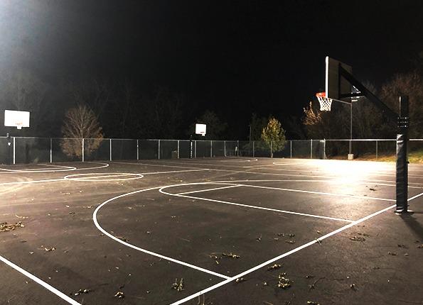 LightMart's Sports Lights on a Basketball Court