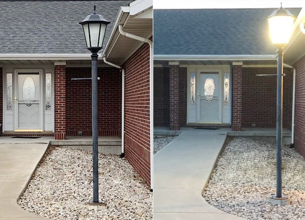 LightMart's DP1050 LED Lantern Lights Up the Building Entryway