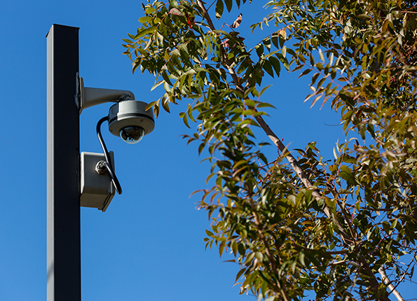 LightMart 4†Square Steel Pole is the Ideal Place for a Security Camera