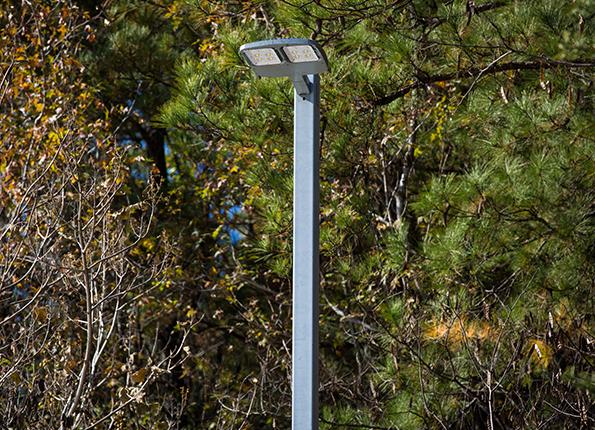 LightMart 5†Square Aluminum Pole with Fixed LED