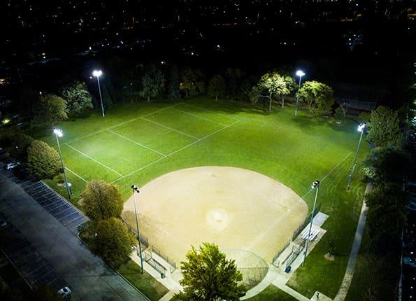LightMart Sports Lights in an Alabama Baseball Field