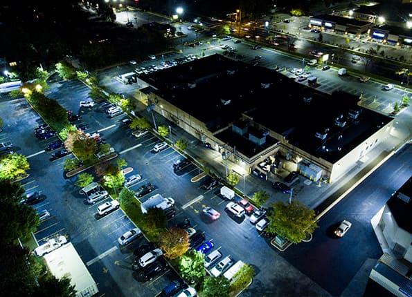 LightMart Parking Lot Lights and Wall Packs Light Up a Building
