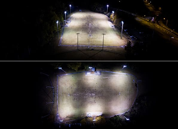 Soccer At Night - Courtesy of LightMart's Sport Lights