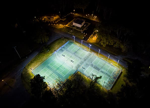Tennis at Night Made Possible by LightMart