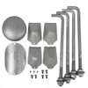 Aluminum Pole H10A4RT125 Included Components