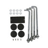Aluminum square pole 16A4SS125 included components
