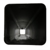 Aluminum square pole 16A4SS125 top view
