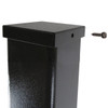 Aluminum square pole 18A4SS125 top attached