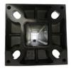 Aluminum square pole 20A4SS125 bottom view