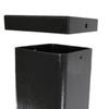 Aluminum square pole 20A5SS250 top unattached