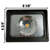 Small LED Flood Light 710017 Front Dimensions