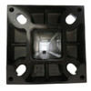 Aluminum square pole 25A6SS250 bottom view