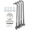 Aluminum round pole 10A4RSH125 included components