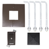 Square Steel Pole QS20S4SQ125 Included Components
