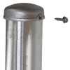 Aluminum round pole 12A4RSH125 top attached