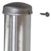 Aluminum round pole 12A5RSH125 top attached