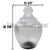 LED Acorn Light EACLED36 Side Dimensions
