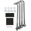 Square Hinged Pole 14A4SSH125 included components