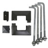 LED Pole Kit with Four 200 Watt LED Lights, 15-30 Foot Pole Height Options-Anchor Bolts and Base Cover