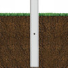 Aluminum Square Pole 25A6SS250DB Buried View