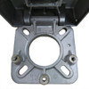Square Hinged Pole 10A4SSH125S base plate