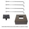 30 Foot Square Steel Light Pole - Pro's Choice Heavy Duty, 5 Inch Wide, 7 Gauge