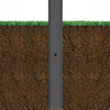 12 Foot Square Straight Aluminum Direct Burial Light Pole with Single 100 Watt LED Light - Direct Burial Light Pole