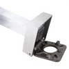 18 Foot Square Hinged Base Aluminum Light Pole, Factory Direct Aluminum Light Poles - 4 Inch Wide 0.188 Inch