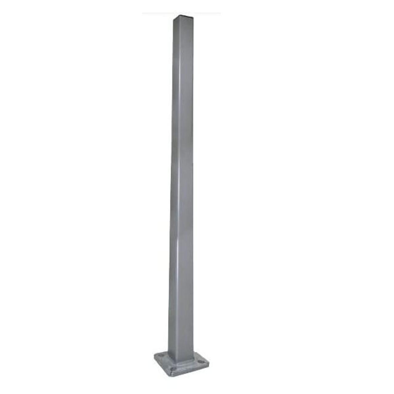 Triple Square Straight Bull Horn for 3 fixtures LED Street Light Tenon Adapter