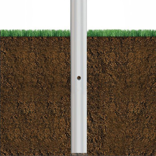 Aluminum Pole 25A6RT156DB Buried View