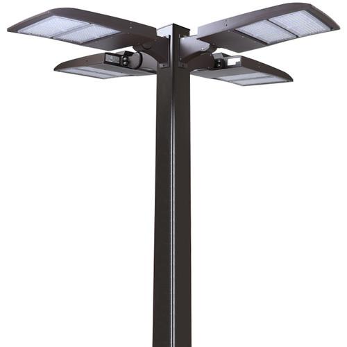 LED Pole Kit with Four 200 Watt LED Lights, 15-30 Foot Pole Height Options-Thumbnail
