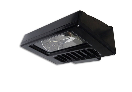 GE Evolve LED Scalable 41 Watt Wall Pack Fixture Front Angle