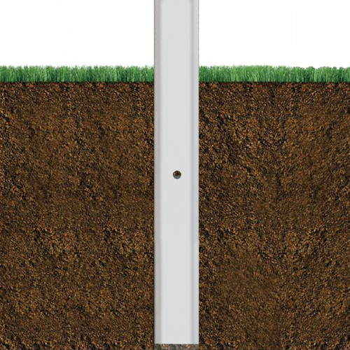 Square Direct Burial Aluminum Light Pole 30 Foot Above Grade, 6 Inch Wide, 0.188 Inch Wall Thickness