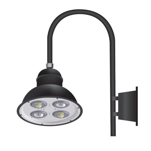 58 Watt 18 Inch Architectural Gooseneck LED Fixture with Wall Mount-PTDS58W-Thumbnail