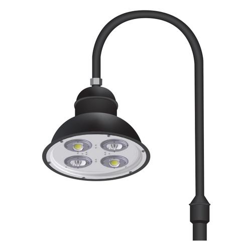 Architectural Gooseneck LED Light Fixture with Single Arm