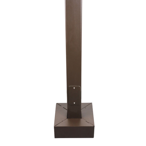 25 Foot Square Steel Light Pole - Pro's Choice Heavy Duty, 4 Inch Wide 7 Gauge