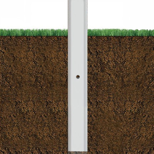 12 Foot Above Grade 4 Inch Square Aluminum Direct Burial Light Pole - Factory Direct Aluminum Light Poles - 4 Inch Diameter, 0.125 Inch Wall Thickness