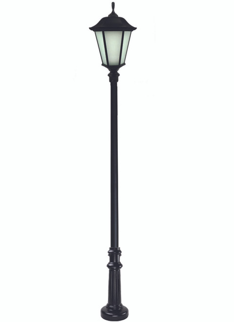 Newberry Anchor Base Decorative LED Light Pole Kit with Lantern Fixture, 4 Inch Diameter- Thumbnail