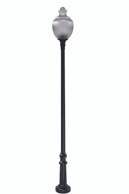 Newberry Anchor Base Decorative LED Light Pole Kit with Standard Acorn Fixture - 3 Inch Diameter - Thumbnail