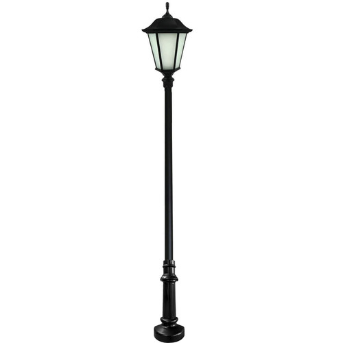 Worthington Anchor Base Decorative LED Light Pole Kit with Lantern Fixture, 4 Inch Diameter- Thumbnail