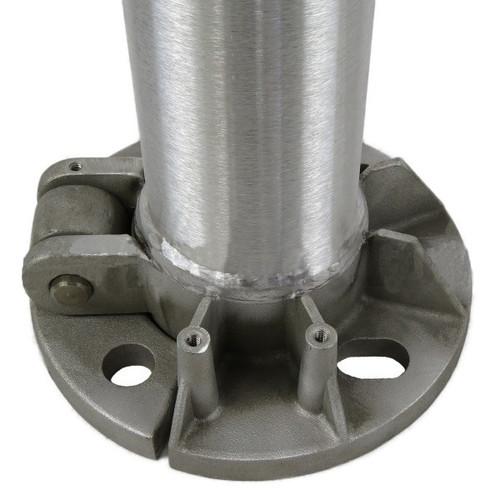 Aluminum Pole 12A5RTH125 Flat Base View