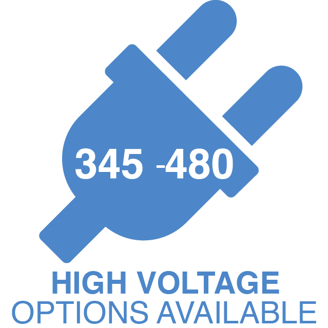 345-480 High Voltage Options Available