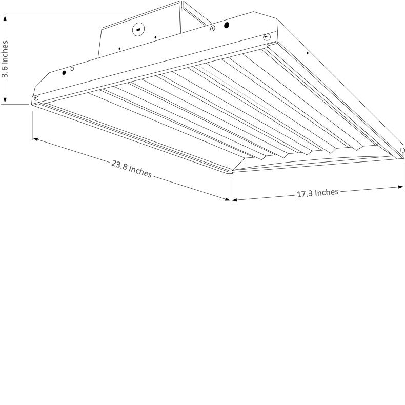 LED High Bay LEDHB223 Dimensional Drawing