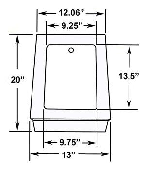 Transformer Base 2-20 - Dimensional Drawing