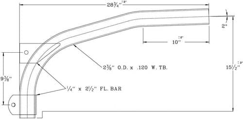 Cantilever Bracket WPB1026 Dimensional Drawing