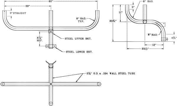 Flood Light Bracket WPB1141 Dimensional Drawing