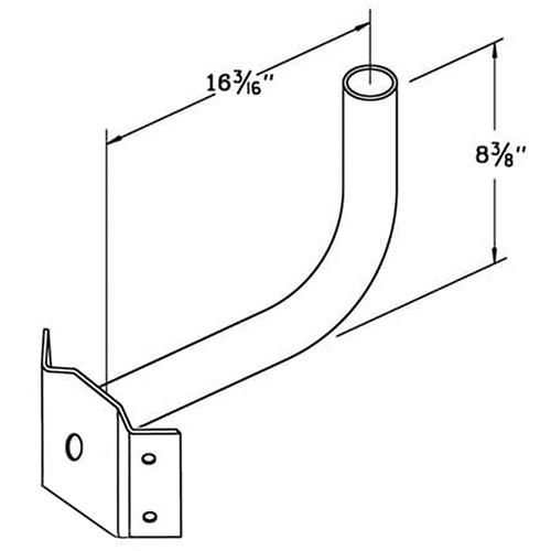 Wrap Around Bracket WPB1148 Dimensional Drawing