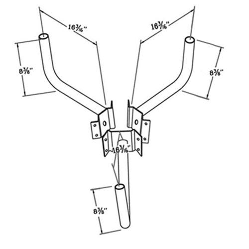 Wrap Around Bracket WPB1152 Dimensional Drawing