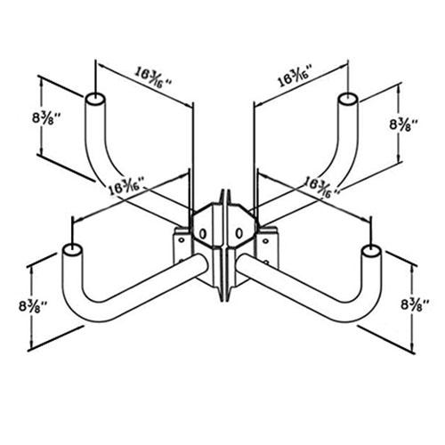 Wrap Around Bracket WPB115 Dimensional Drawing